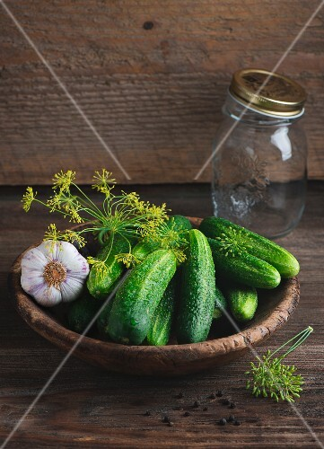 Gherkins and dill