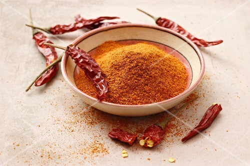 A bowl of cayenne pepper