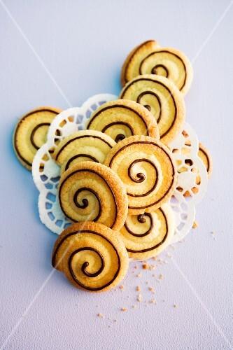 Shortcrust spiral biscuits