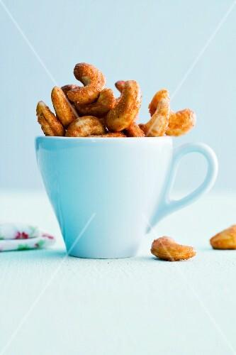 A cups of tandoori cashew nuts