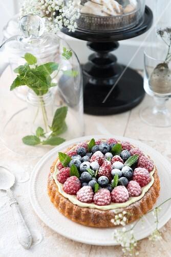 Summer berry tartlet