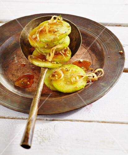 Oriental marinated cucumbers