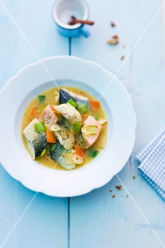 Lake Constance fish soup with vegetables
