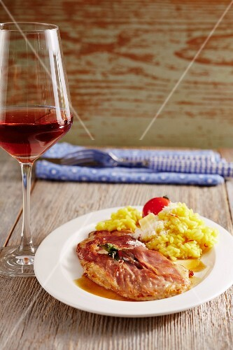 Saltimbocca with risotto