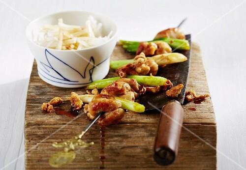 Yakitori (Japanese chicken skewers)