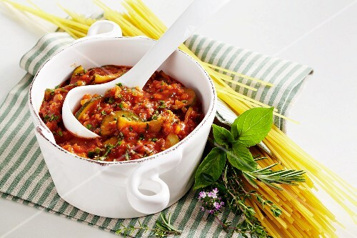 Spaghetti with freekeh bolognese