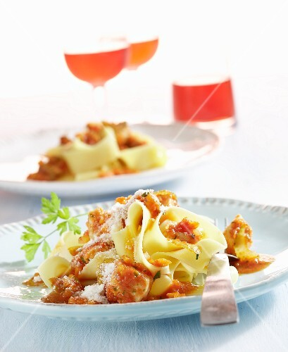 Pappardelle with rabbit