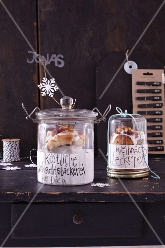 Panettone in jars as gifts