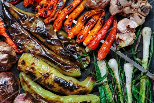 Grilled vegetables, Laos