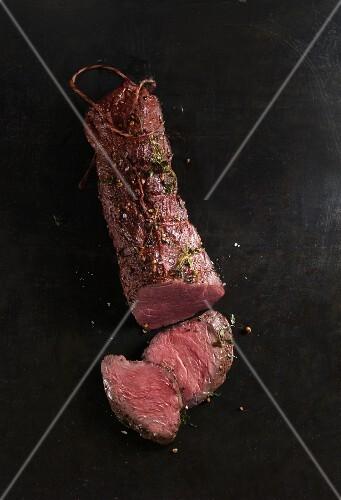 Sliced beef fillet