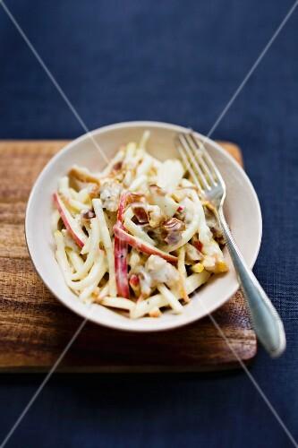 Waldorf salad with yoghurt and mayonnaise