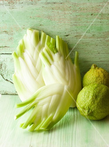 Fennel bulbs and organic lemons