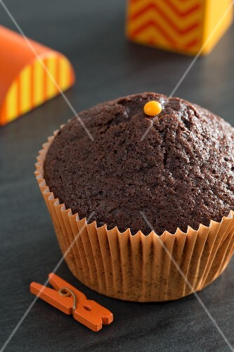 Chocolate cupcake for Halloween