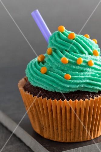 Chocolate cupcake for Halloween