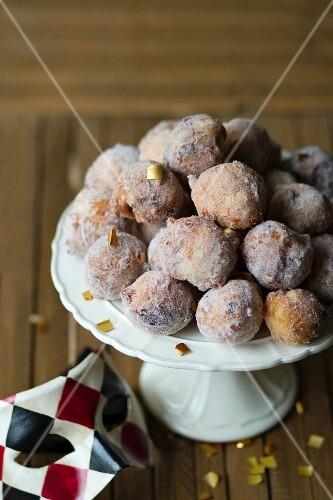 Traditional Italian carnival doughnuts
