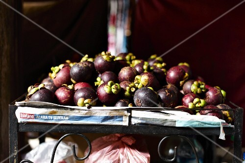 Mangosteen from Bali at a market