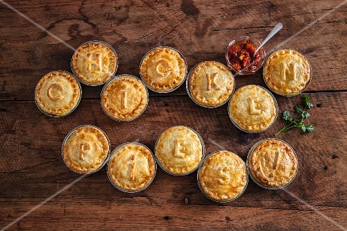 Moroccan chicken pies with ajvar