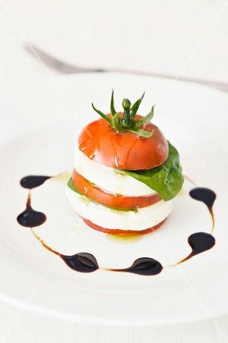 Insalata caprese (Tomato with mozzarella, Italy)