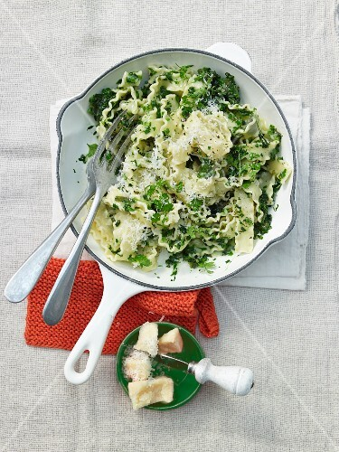 Pasta with spring herbs and Parmesan