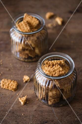 Cookies in glass jars