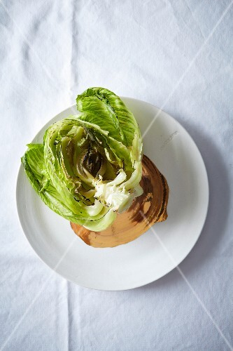 A grilled lettuce