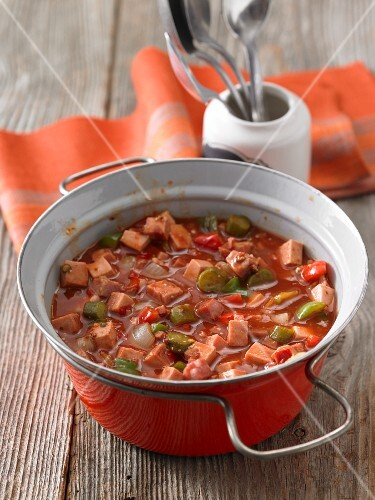 Solyanka (Eastern European stew with meat and vegetables)