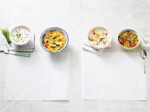 Four quick low carb soups