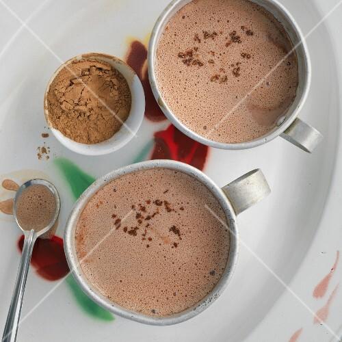Hot chocolate with carob