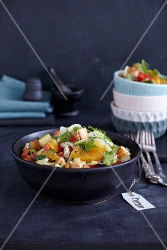 Halloumi and orange salad with fennel