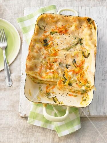 Spitzkohl-Möhren-Lasagne