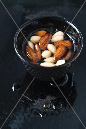 Almonds in honey