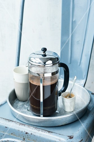 Coffee being made in a cafetière
