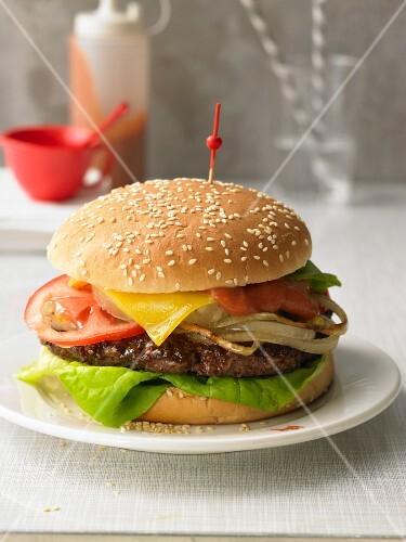 Big Kahuna Burger with teriyaki sauce