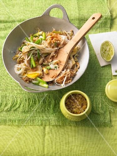 Stir-fried Pad Thai noodles