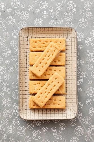 Shortbread on a tray
