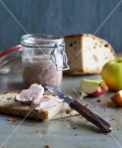 Homemade cooked sausage and onion spread