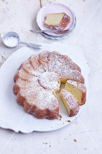 Gluten-free potato cake shaped like a flower