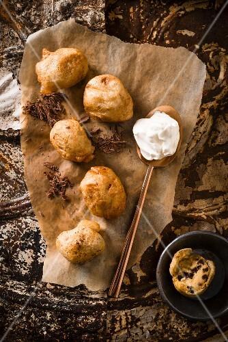 Chocolate chip dookies (cross between doughnuts and cookies)