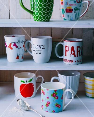 Various mugs for mug cakes