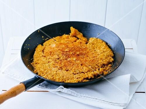 Pan-baked, gluten-free millet bread
