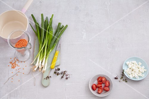 Ingredients for quick soups and salads