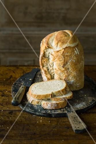 White sour dough bread