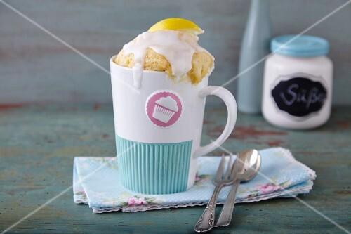A lemon mug cake