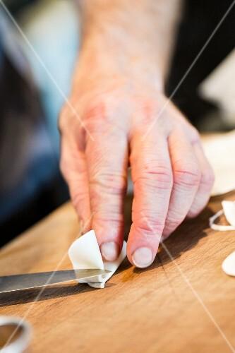 Artistic culinary preparation at the restaurant Oaxen Krog run by chef Magnus Ek, Stockholm