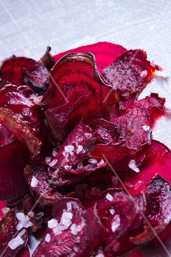 Beetroot crisps with Fleur de Sel