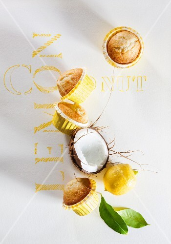 Coconut and lemon muffins