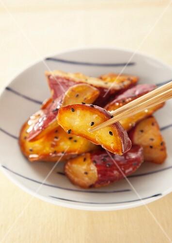 Deep fried sweet potatoes, Japan