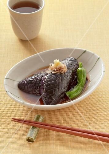 Aubergine braised in soy sauce (Japan)