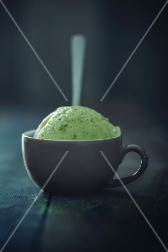 A couple of vegan green tea ice cream