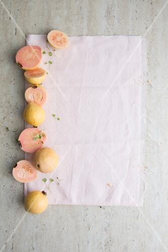 An arrangement of guavas